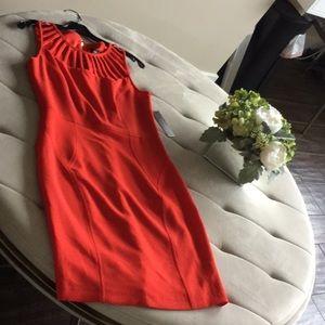 Laundry Red sleeveless dress
